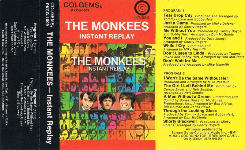 Instant Replay Monkees Colgems Cassette