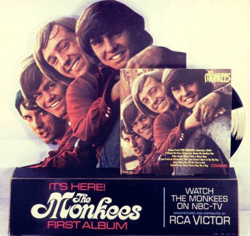 Monkees album counter top display