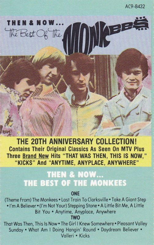 Monkees Then & Now cassette Arista