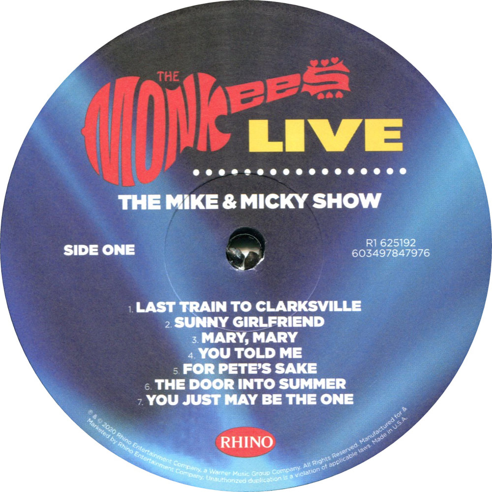 Mike & Micky show vinyl LP label