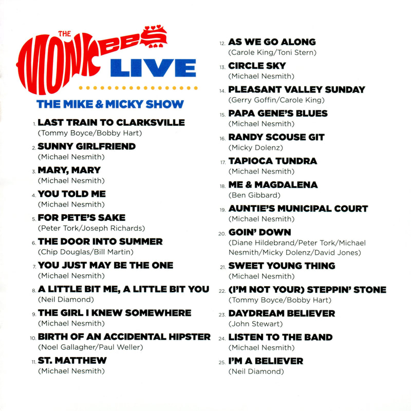 Mike and Micky Show CD track list