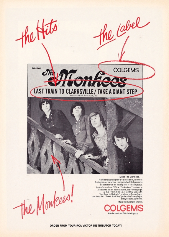 Monkees Last Train to Clarksville ad